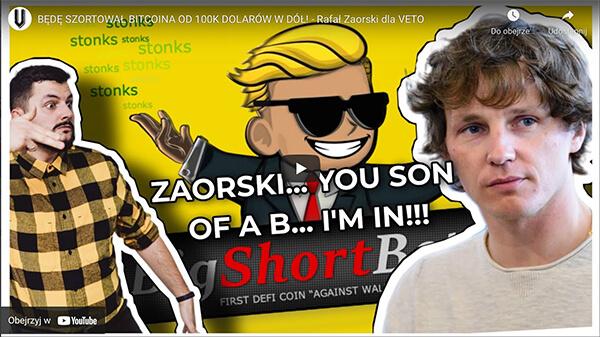 Rafał Zaorski Short Bitcoin