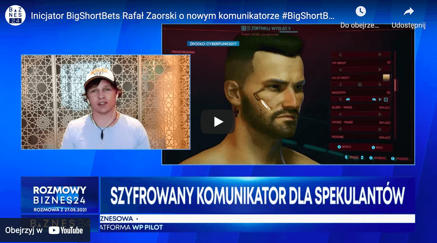 Biznes24 BigShortBets Rafał Zaorski